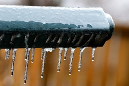Ice dams in gutters can cause leaks indoors